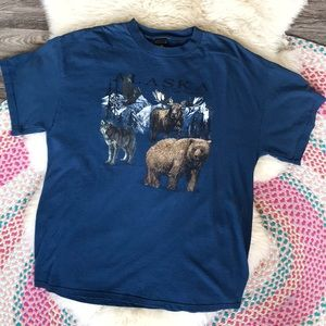Vintage Prairie Mountain Alaska Men's T Shirt L